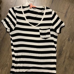 Rebellious. One from the buckle striped tee